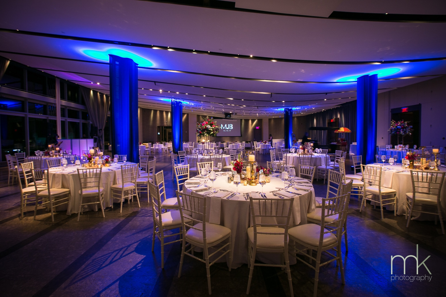 Atlantic Room with chivari chairs - Venue Gallery