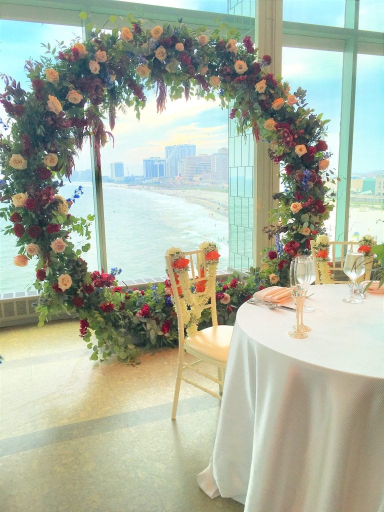 Circle Arch behind Sweetheart table 768x1024 - Receptions